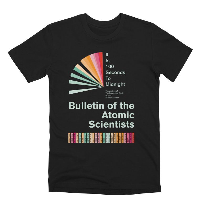 Doomsday Clock Times Men's T-Shirt by Bulletin of the Atomic Scientists' Artist Shop