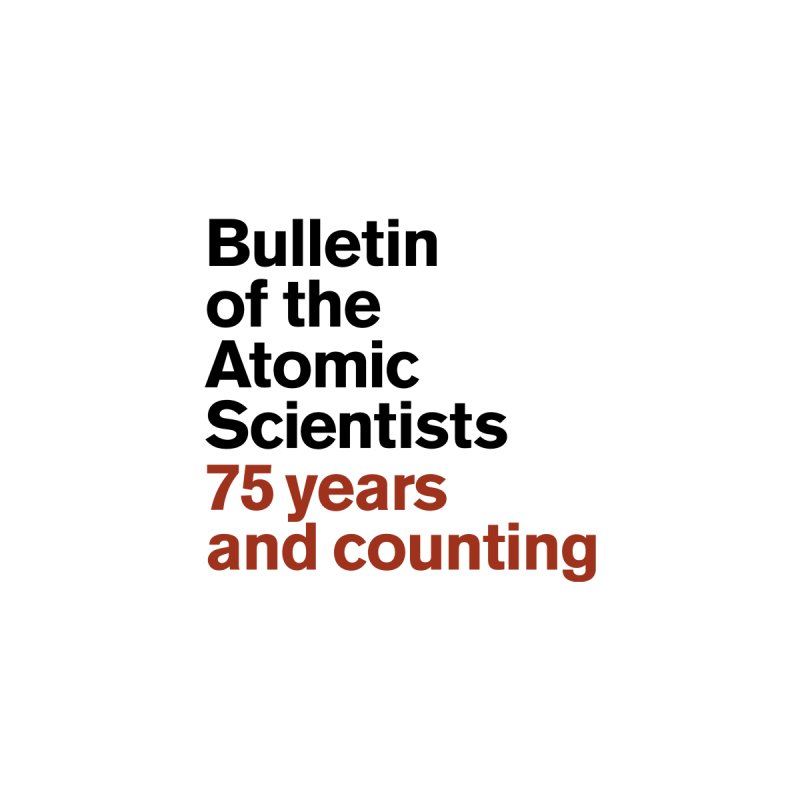 75 years and counting Pocket Version Men's T-Shirt by Bulletin of the Atomic Scientists' Artist Shop
