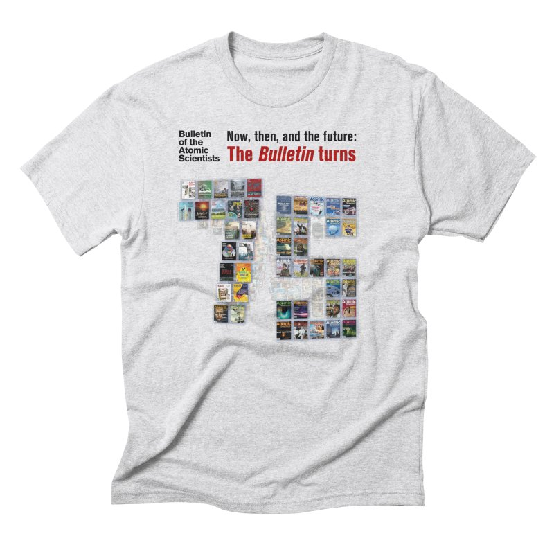 The Bulletin turn 75 Men's T-Shirt by Bulletin of the Atomic Scientists' Artist Shop
