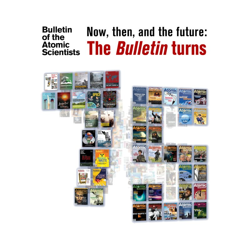 The Bulletin turn 75 Pocket style Men's T-Shirt by Bulletin of the Atomic Scientists' Artist Shop