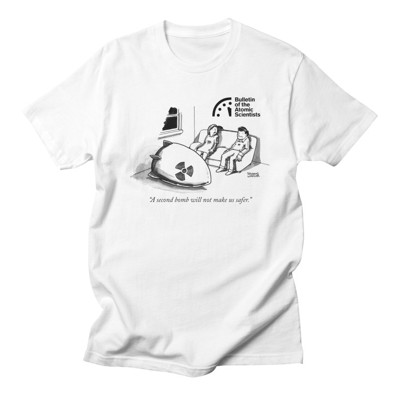A second bomb by Shannon Wheeler Men's T-Shirt by Bulletin of the Atomic Scientists' Artist Shop