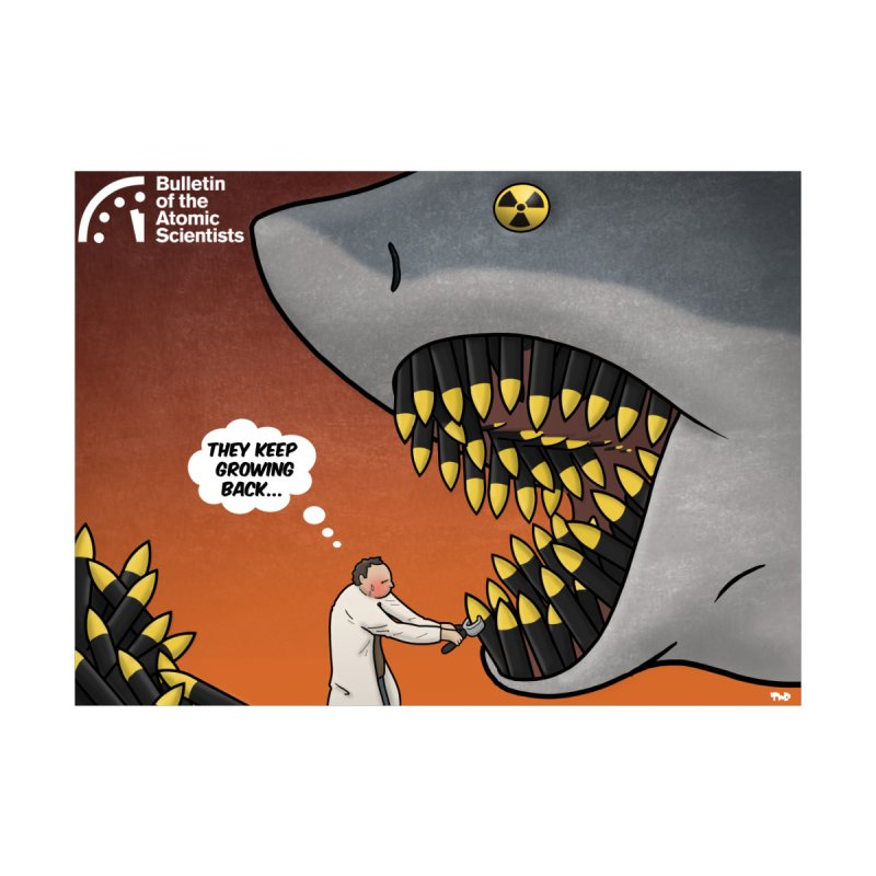 Nuclear Shark by Tjeerd Royaards Women's T-Shirt by Bulletin of the Atomic Scientists' Artist Shop