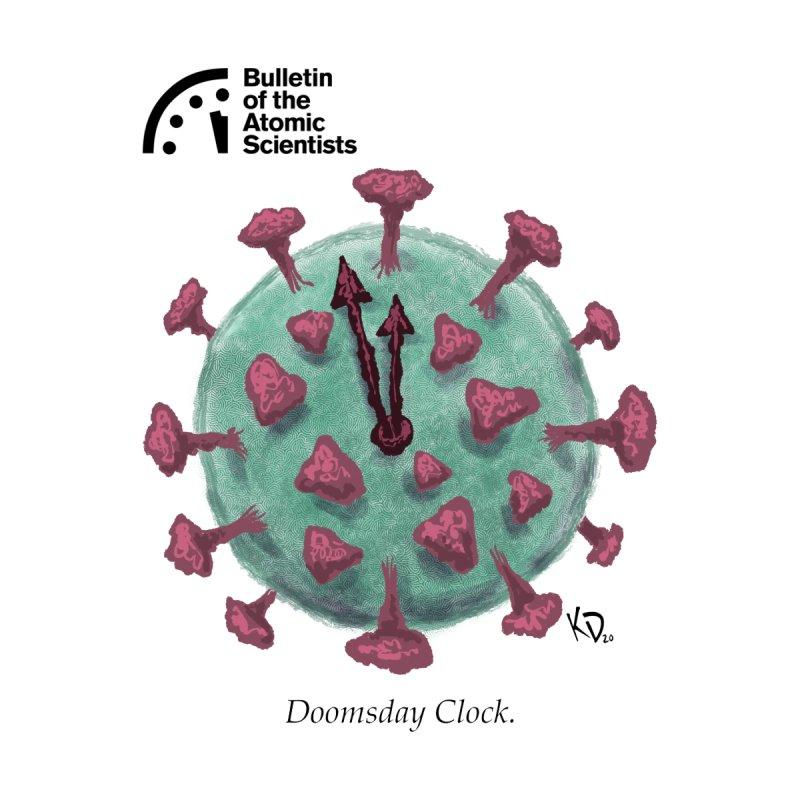 Doomsday Clock Virus by Kieron Dwyer Men's T-Shirt by Bulletin of the Atomic Scientists' Artist Shop