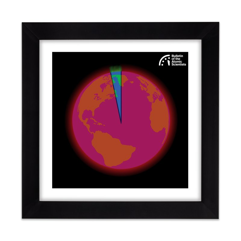 Time is Running Out by Nathan Doyle Home Framed Fine Art Print by Bulletin of the Atomic Scientists' Artist Shop