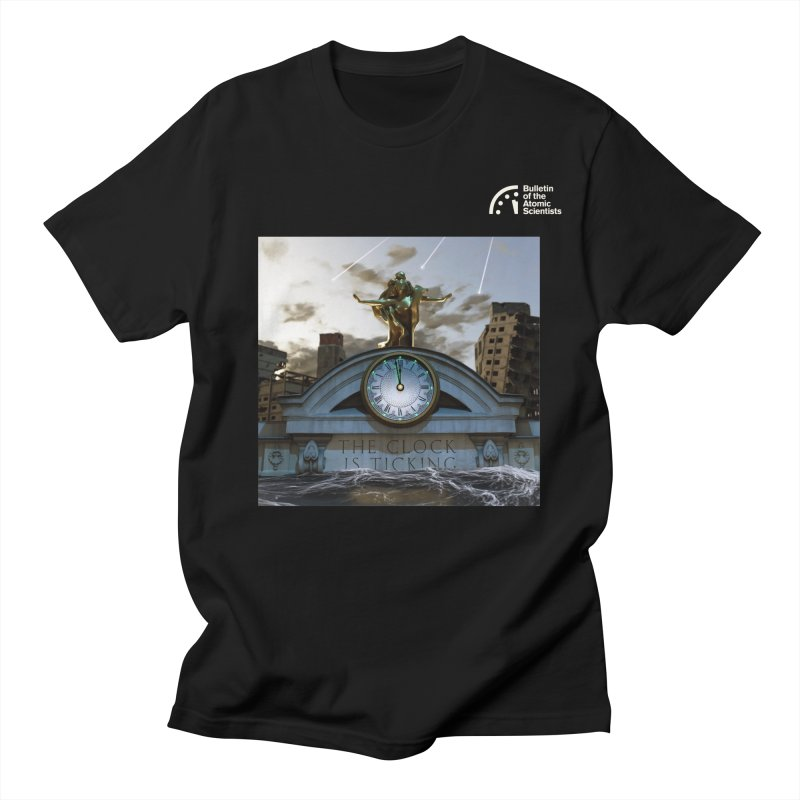 The Clock is Ticking by Evan Hatch Men's T-Shirt by Bulletin of the Atomic Scientists' Artist Shop