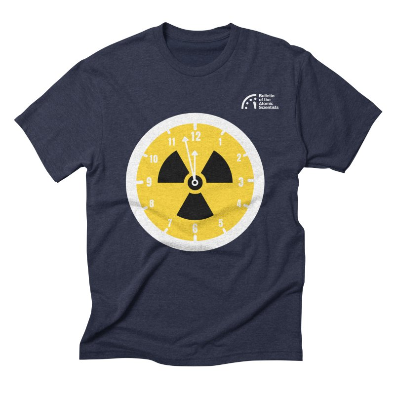 2 Clicks to Inferno by Vivek Akhani Men's T-Shirt by Bulletin of the Atomic Scientists' Artist Shop