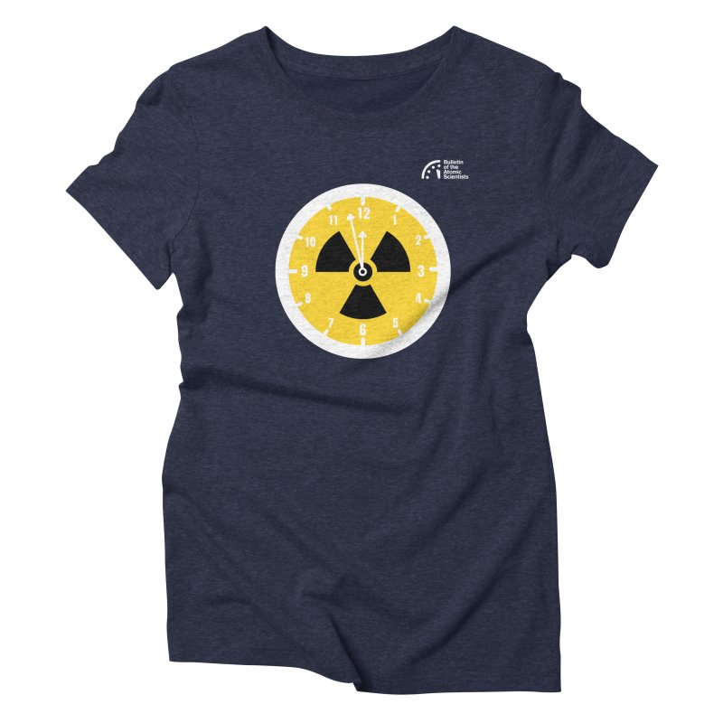 2 Clicks to Inferno by Vivek Akhani Women's T-Shirt by Bulletin of the Atomic Scientists' Artist Shop