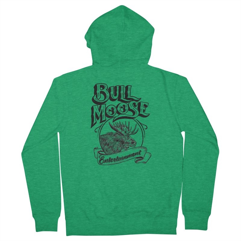 Bull Moose Logo Women's Zip-Up Hoody by thebullmoose's Artist Shop