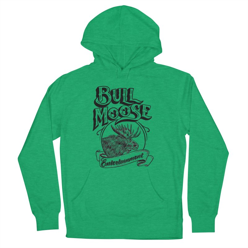 Bull Moose Logo Men's French Terry Pullover Hoody by thebullmoose's Artist Shop