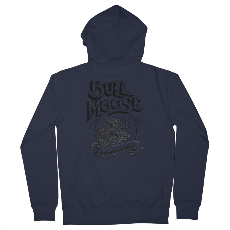 Bull Moose Logo Women's French Terry Zip-Up Hoody by thebullmoose's Artist Shop