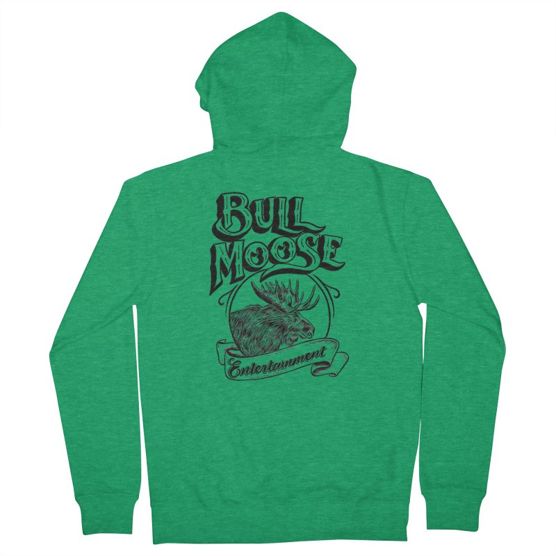 Bull Moose Logo Men's Zip-Up Hoody by thebullmoose's Artist Shop