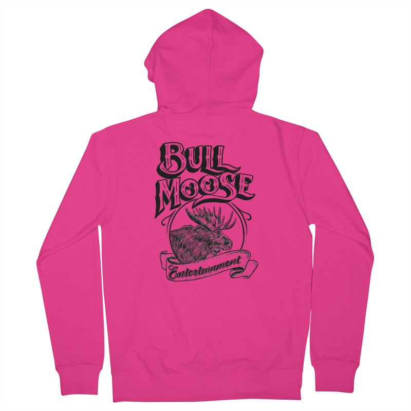 Bull Moose Logo Men's French Terry Zip-Up Hoody by thebullmoose's Artist Shop