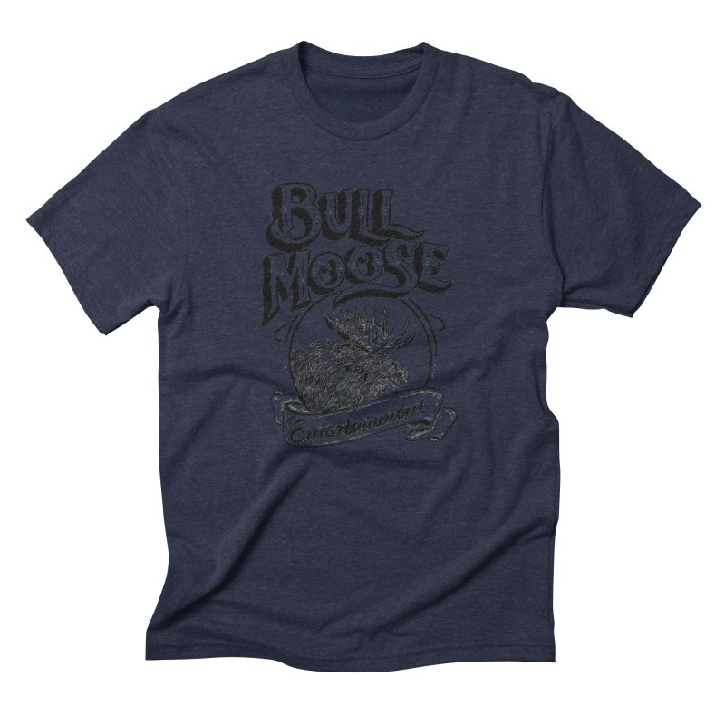 Bull Moose Logo Men's Triblend T-Shirt by thebullmoose's Artist Shop