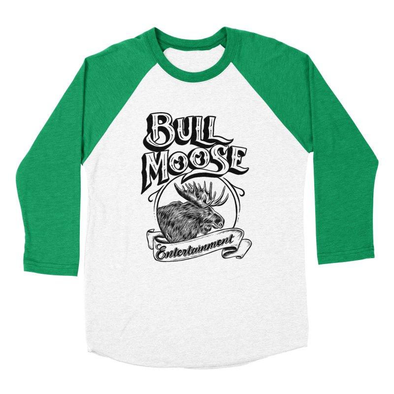 Bull Moose Logo Women's Baseball Triblend Longsleeve T-Shirt by thebullmoose's Artist Shop