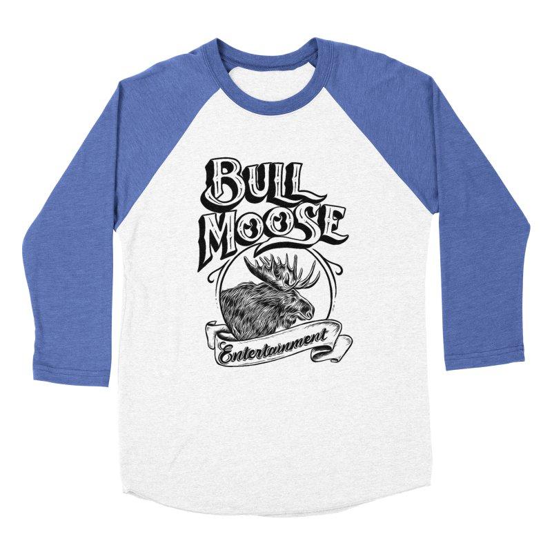 Bull Moose Logo Men's Baseball Triblend Longsleeve T-Shirt by thebullmoose's Artist Shop