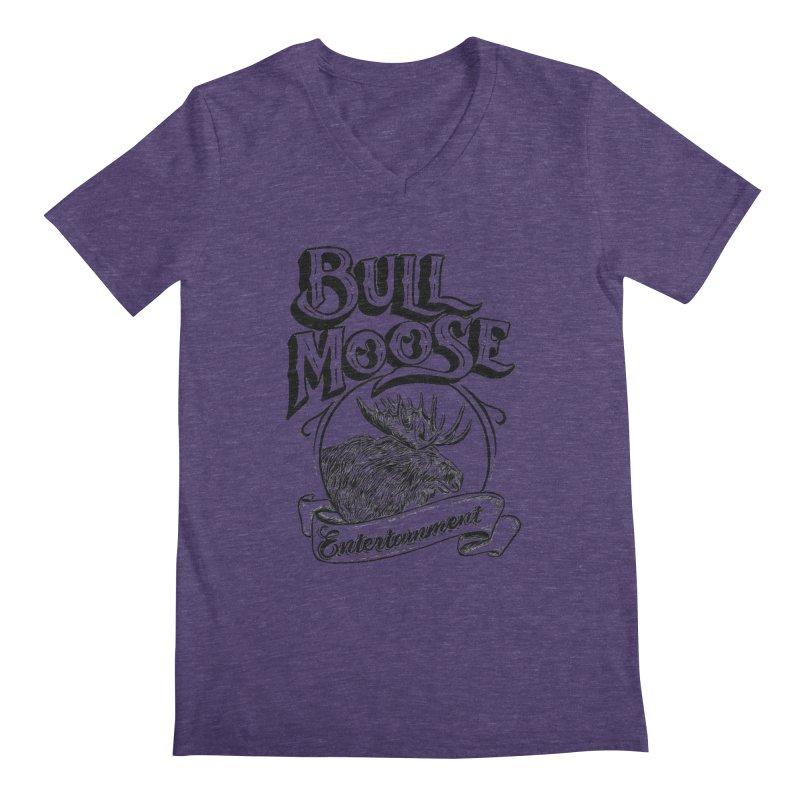Bull Moose Logo Men's Regular V-Neck by thebullmoose's Artist Shop