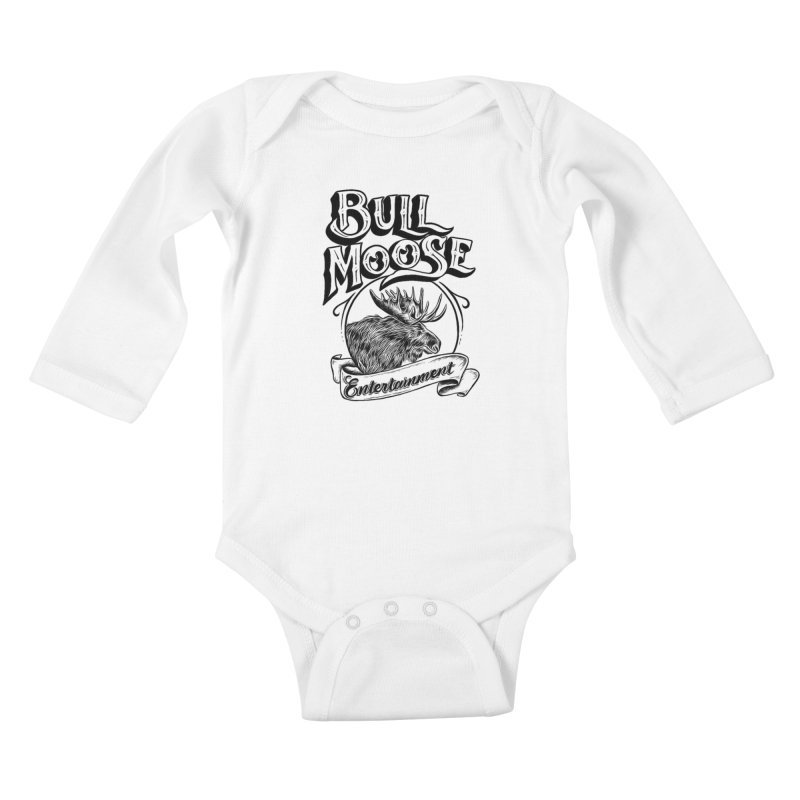 Bull Moose Logo Kids Baby Longsleeve Bodysuit by thebullmoose's Artist Shop