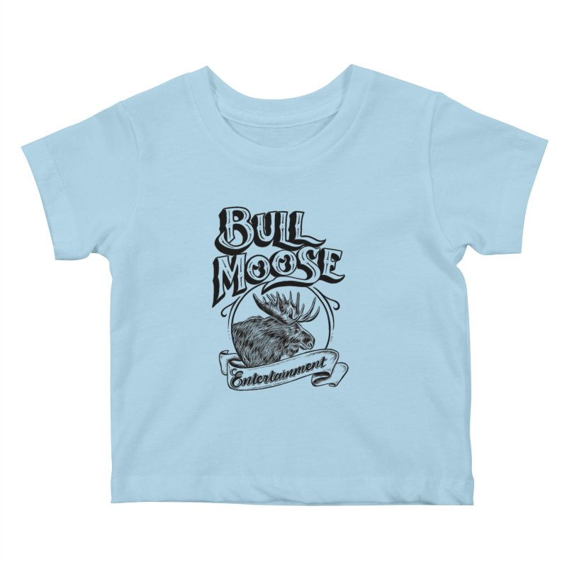 Bull Moose Logo Kids Baby T-Shirt by thebullmoose's Artist Shop