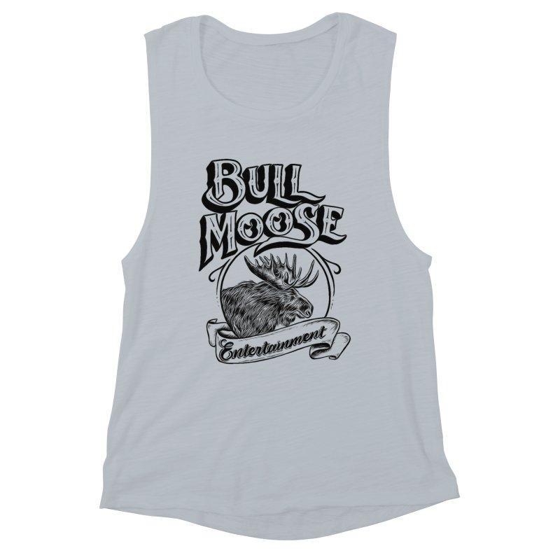 Bull Moose Logo Women's Muscle Tank by thebullmoose's Artist Shop