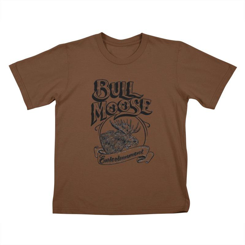 Bull Moose Logo Kids T-Shirt by thebullmoose's Artist Shop