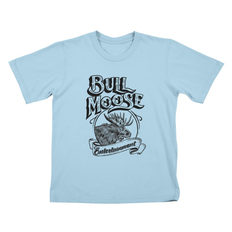 Bull Moose Logo Kids T-Shirt by thebullmoose's Artist Shop