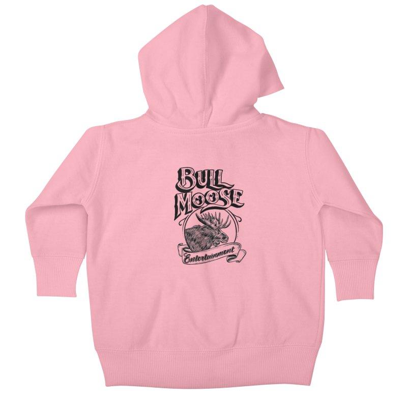 Bull Moose Logo Kids Baby Zip-Up Hoody by thebullmoose's Artist Shop