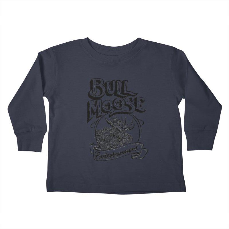 Bull Moose Logo Kids Toddler Longsleeve T-Shirt by thebullmoose's Artist Shop