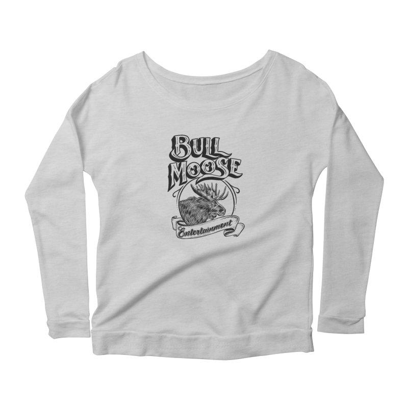 Bull Moose Logo Women's Scoop Neck Longsleeve T-Shirt by thebullmoose's Artist Shop