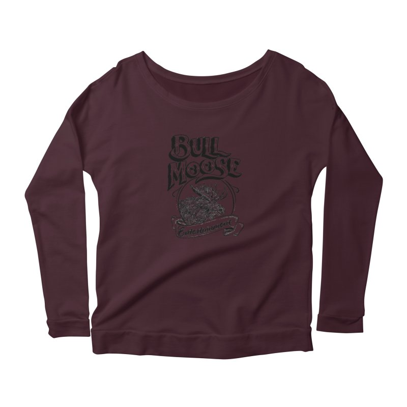 Bull Moose Logo Women's Scoop Neck Longsleeve T-Shirt by thebullmoose's Artist Shop