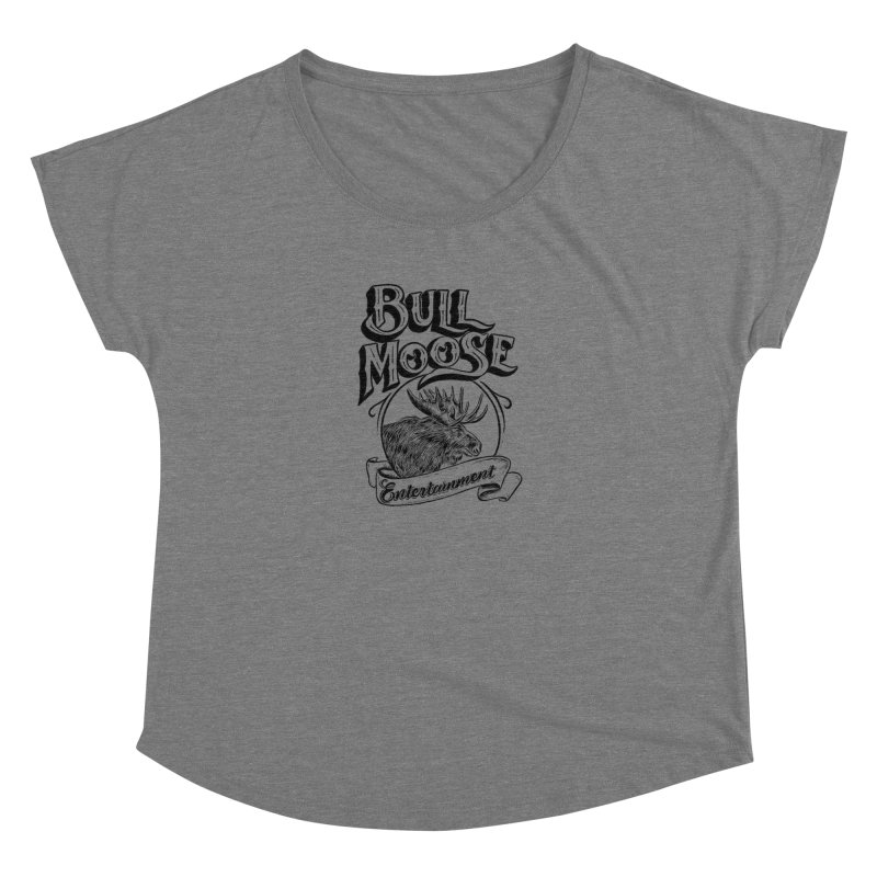 Bull Moose Logo Women's Scoop Neck by thebullmoose's Artist Shop