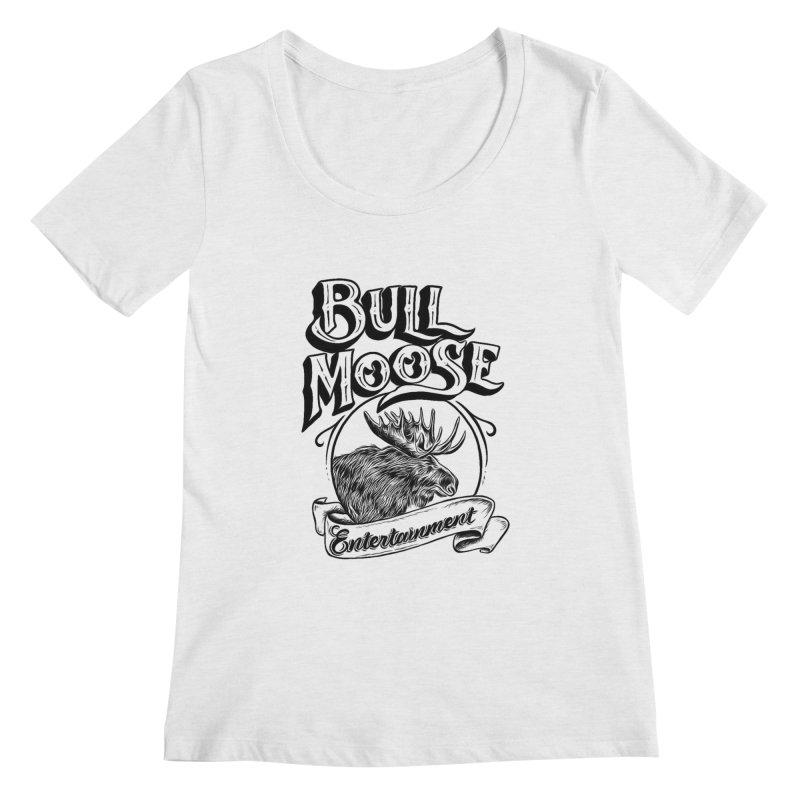 Bull Moose Logo Women's Regular Scoop Neck by thebullmoose's Artist Shop