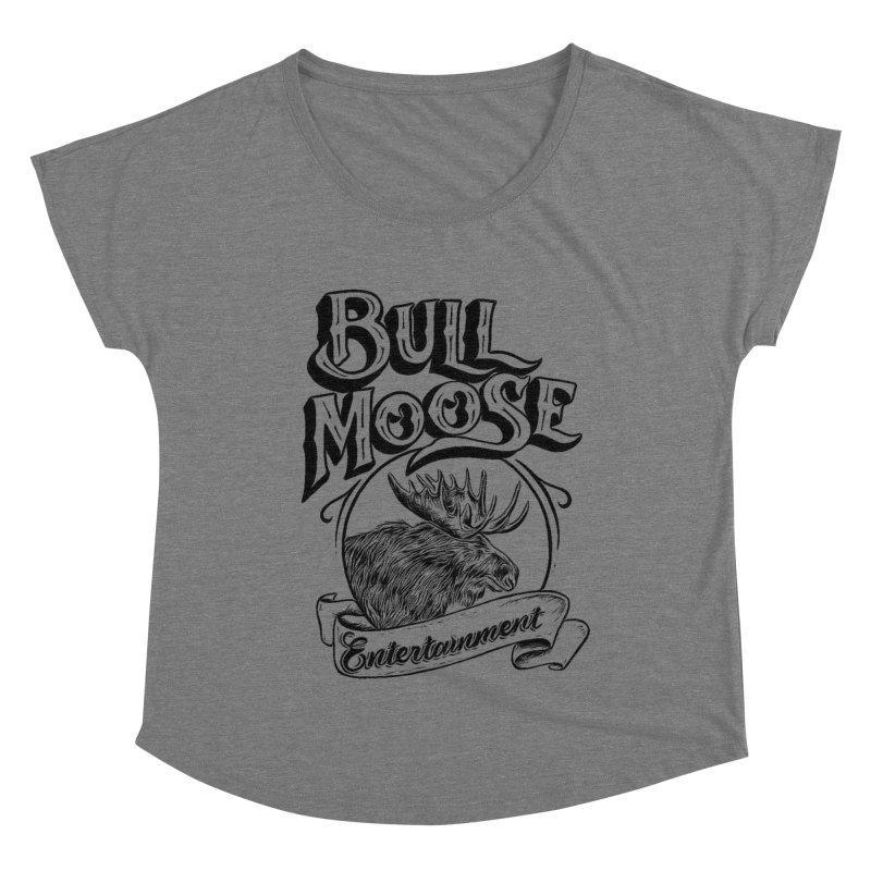 Bull Moose Logo Women's Scoop Neck by thebullmoose's Artist Shop
