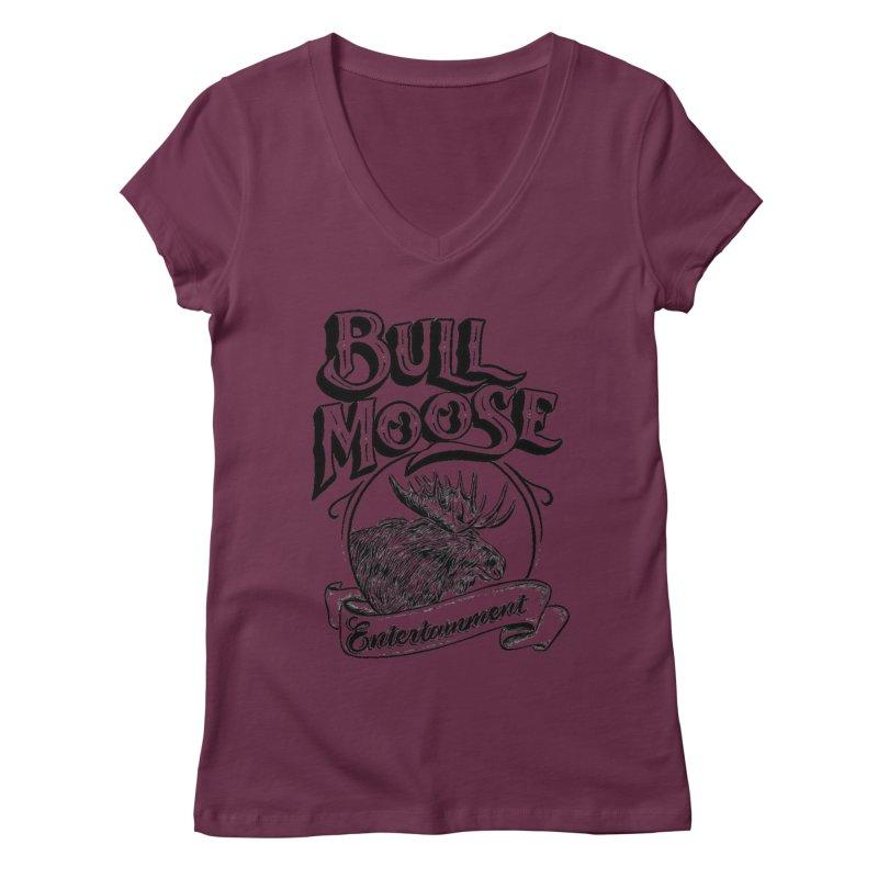 Bull Moose Logo Women's Regular V-Neck by thebullmoose's Artist Shop