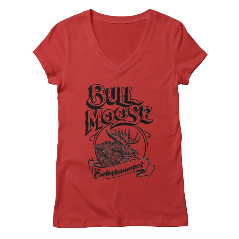 Bull Moose Logo Women's Regular V-Neck by thebullmoose's Artist Shop