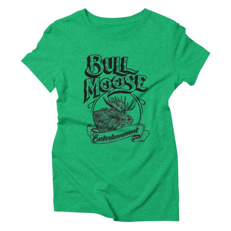 Bull Moose Logo Women's Triblend T-Shirt by thebullmoose's Artist Shop