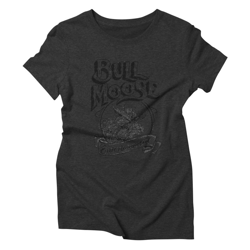 Bull Moose Logo Women's Triblend T-Shirt by thebullmoose's Artist Shop
