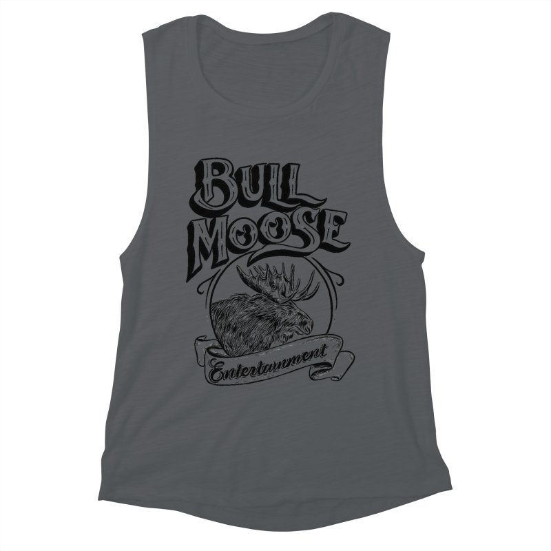 Bull Moose Logo Women's Muscle Tank by thebullmoose's Artist Shop