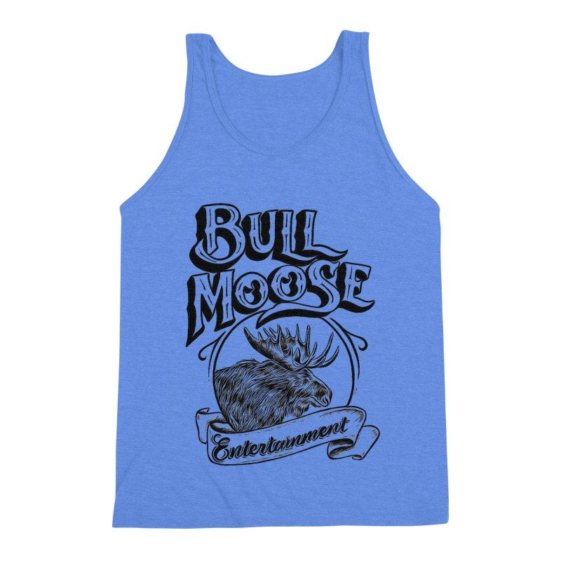 Bull Moose Logo Men's Triblend Tank by thebullmoose's Artist Shop