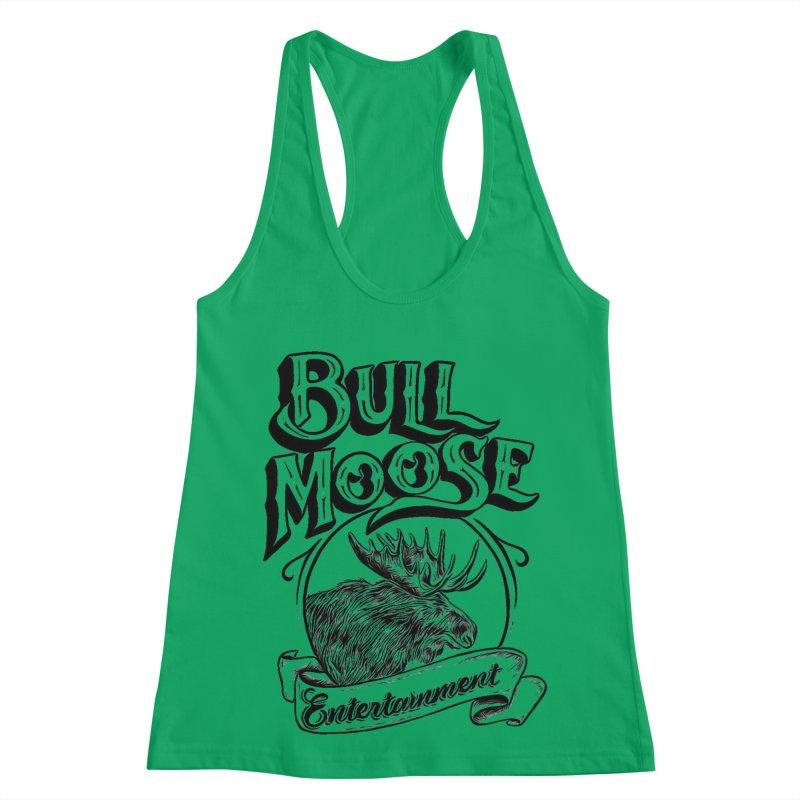 Bull Moose Logo Women's Racerback Tank by thebullmoose's Artist Shop