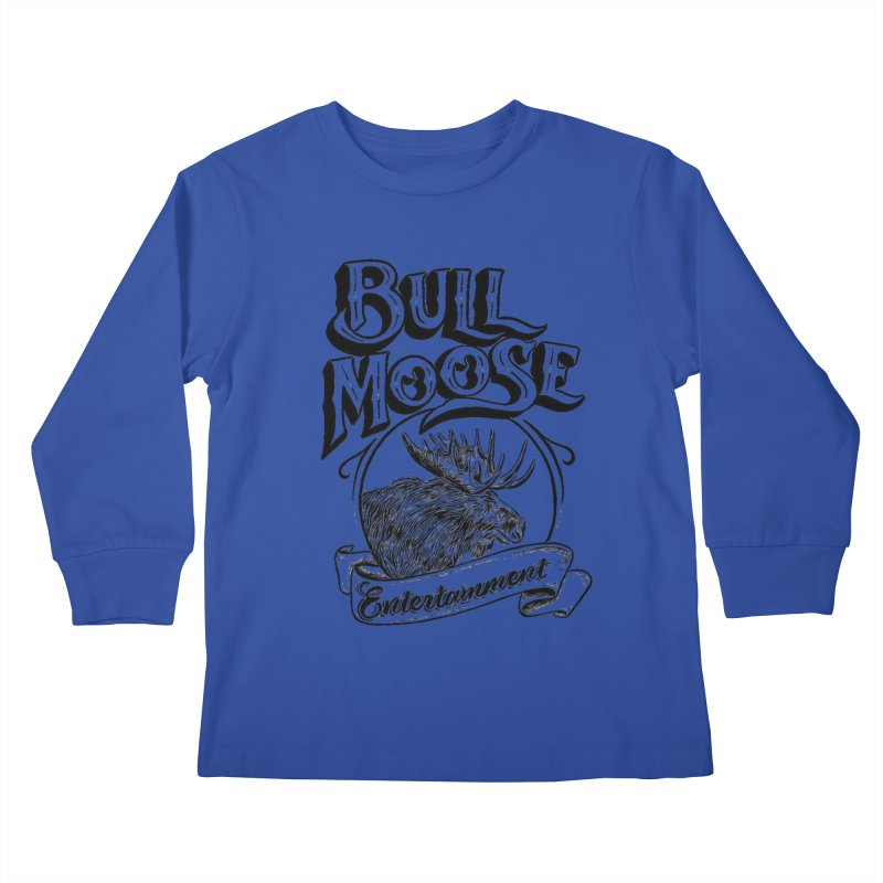 Bull Moose Logo Kids Longsleeve T-Shirt by thebullmoose's Artist Shop