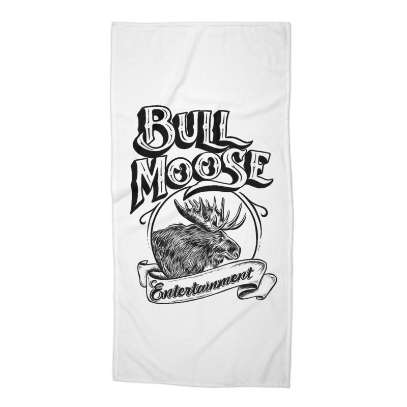 Bull Moose Logo Accessories Beach Towel by thebullmoose's Artist Shop
