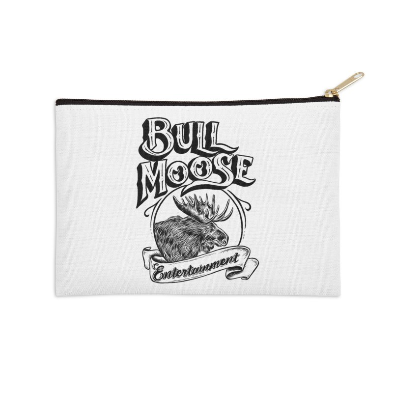 Bull Moose Logo Accessories Zip Pouch by thebullmoose's Artist Shop