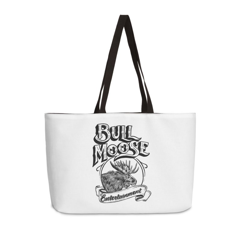 Bull Moose Logo Accessories Weekender Bag Bag by thebullmoose's Artist Shop