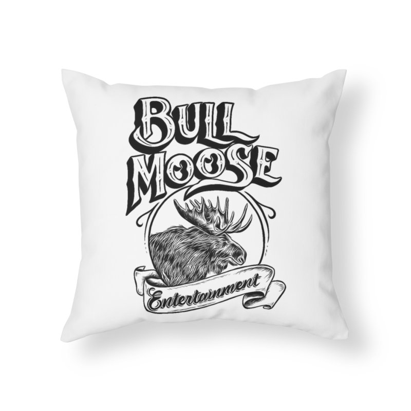 Bull Moose Logo Home Throw Pillow by thebullmoose's Artist Shop