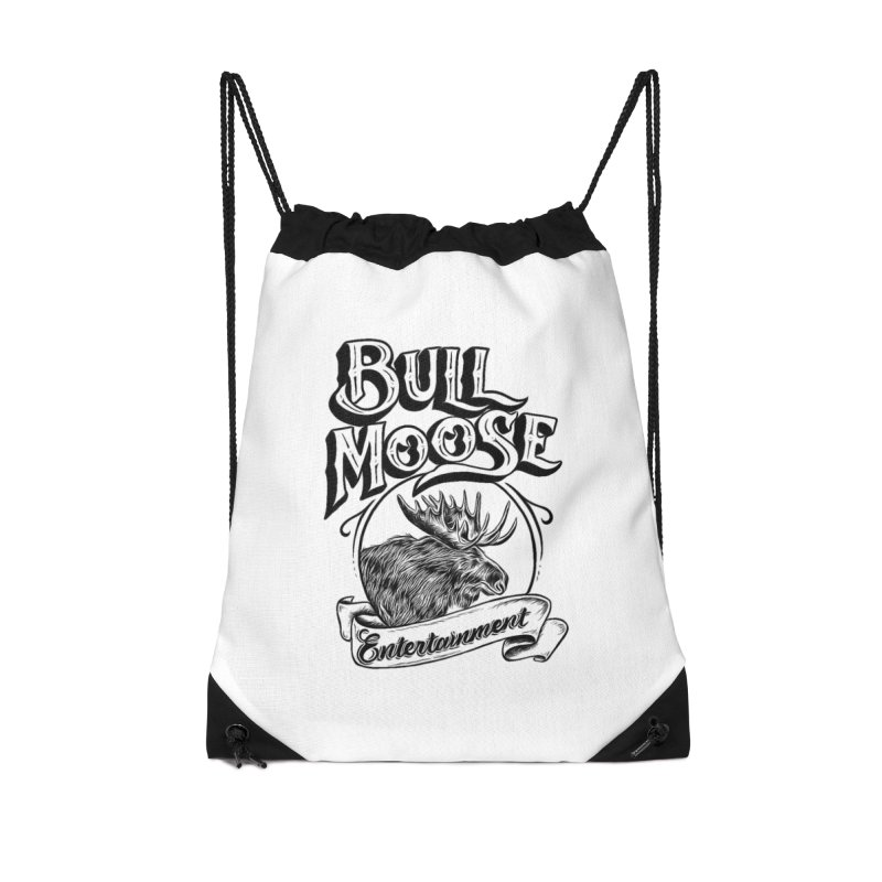 Bull Moose Logo Accessories Drawstring Bag Bag by thebullmoose's Artist Shop