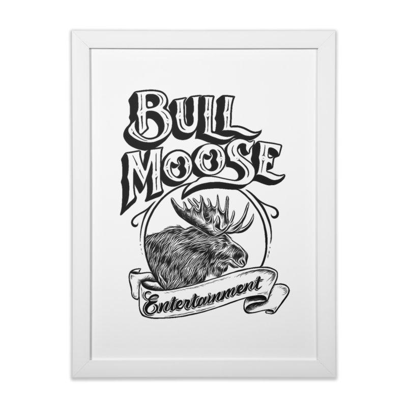 Bull Moose Logo Home Framed Fine Art Print by thebullmoose's Artist Shop