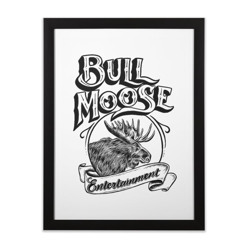 Bull Moose Logo Home Framed Fine Art Print by thebullmoose's Artist Shop