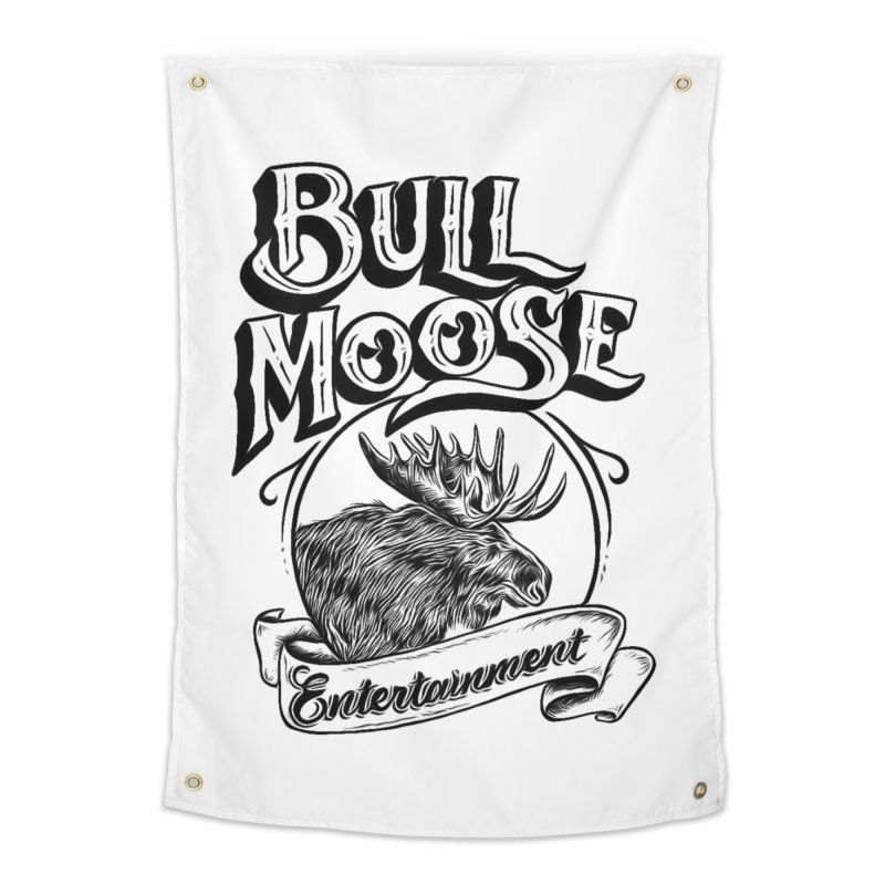 Bull Moose Logo Home Tapestry by thebullmoose's Artist Shop