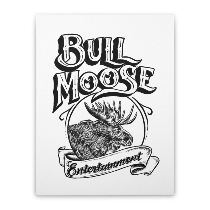 Bull Moose Logo Home Stretched Canvas by thebullmoose's Artist Shop