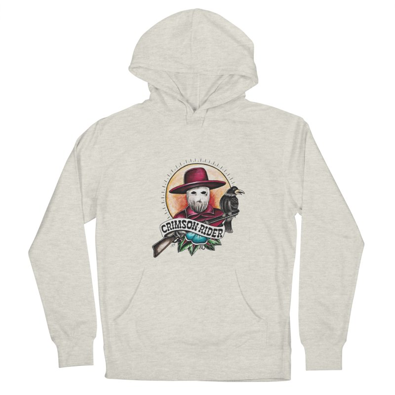 Crimson Rider/Jake Clinton Women's French Terry Pullover Hoody by thebullmoose's Artist Shop